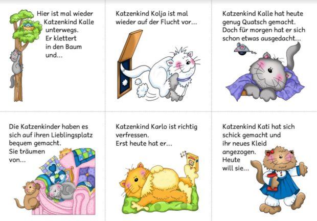 Abschreibmaterial mit Katzenbildern Ideenreise