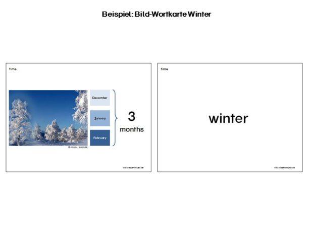 Beispiel Bild-Wortkarte Winter