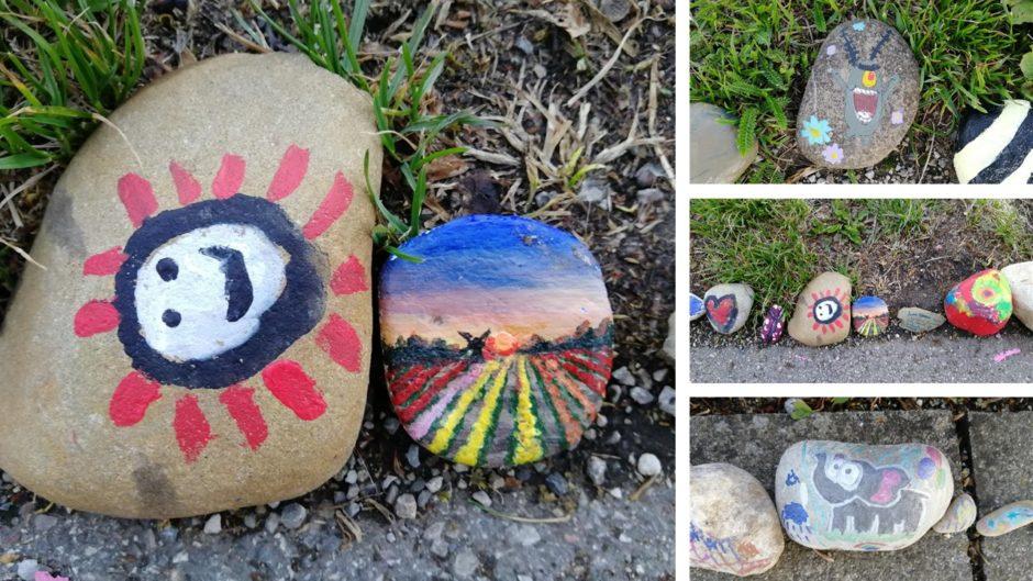 Bemalte Steine, Steine mit Motiven