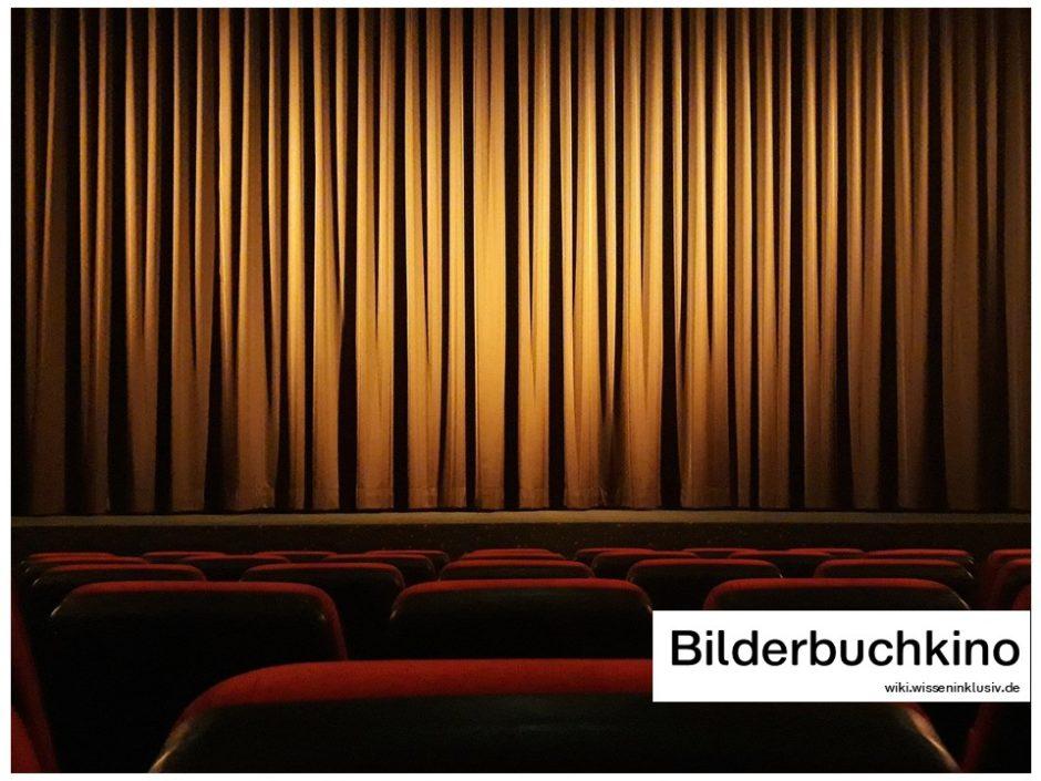 Bilderbuchkino, Vorhang, Kinosaal, Leinwand
