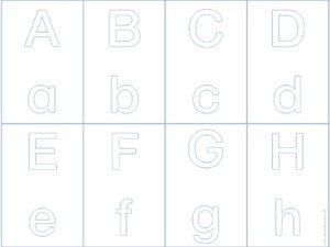Buchstabenkarten mit Groß- und Kleinschreibung