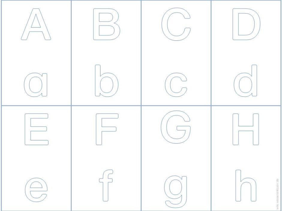 Buchstabenkarten in Groß- und Kleinschreibung in Druckschrift