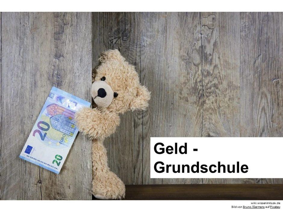 Geld Grundschule Mathematik 20 Euro Schein Teddy