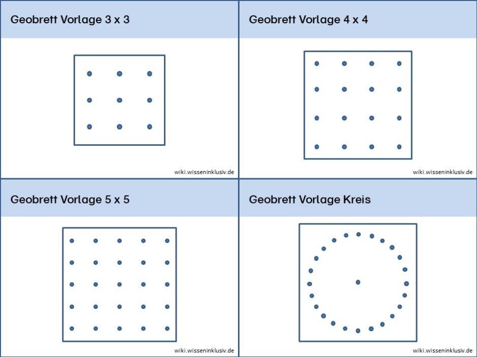 Geobrett 3x3, 4x4, 5x5, Kreis