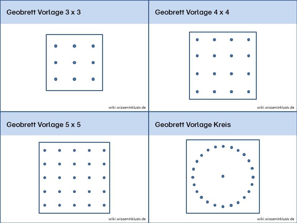 Geobrett – Hilfsmittel zum Üben von geometrischen Figuren