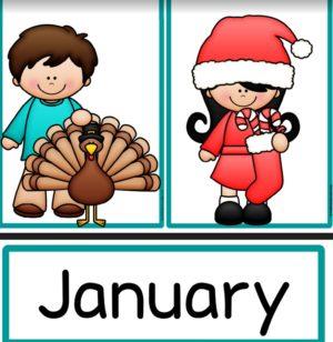 Kalenderkarten Englisch Ideenreise