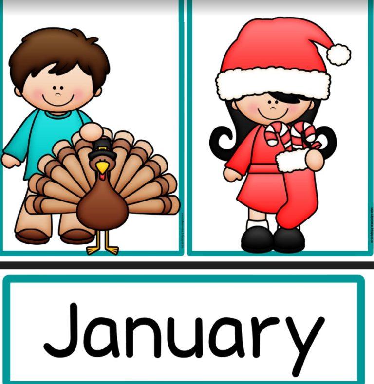 Kalender Bild- und Wortkarten englisch