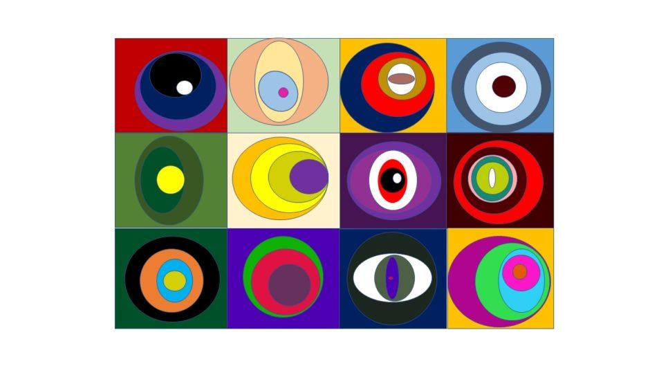 Konzentrische Kreise gezeichnet in ppt