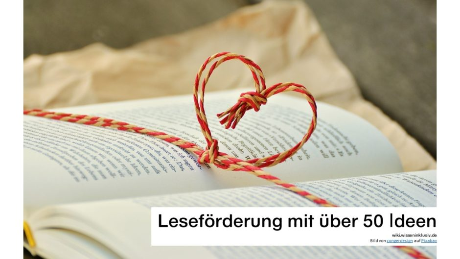 Leseförderung - Lesen ist schön