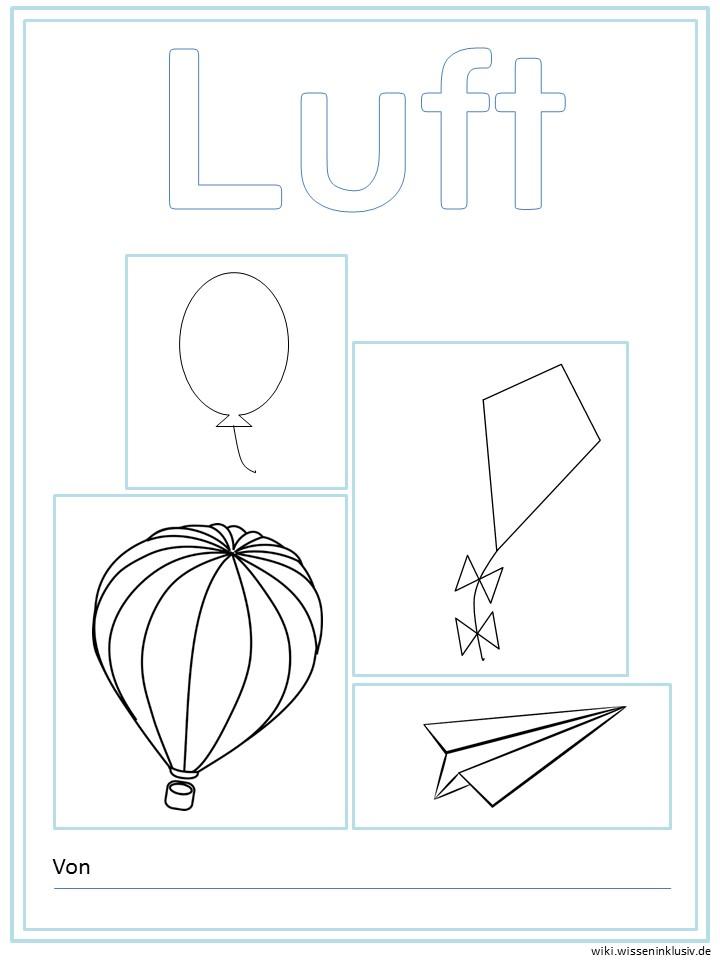 Luft   Deckblatt für Forscherheft oder Lapbook • Materialien