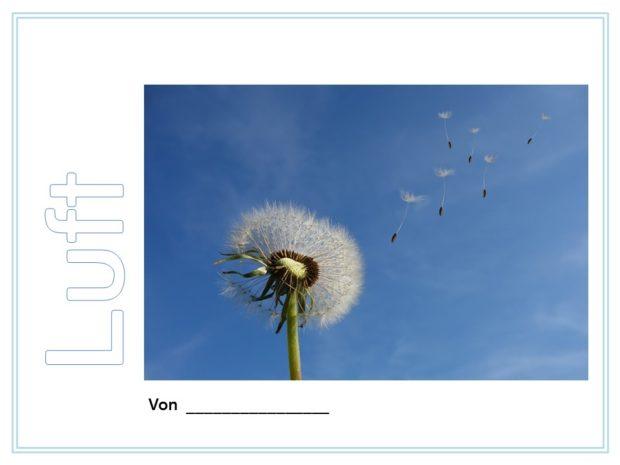 Luft – Deckblatt für Forscherheft oder Lapbook