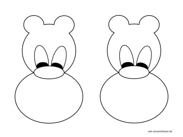 Mondrian Vorlagen lustige Tiere 1