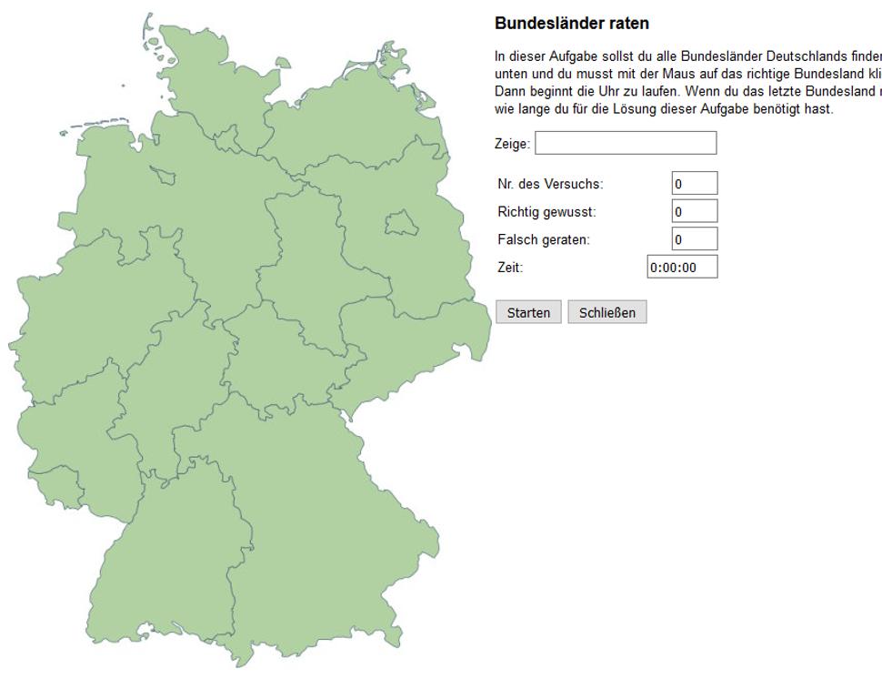 Bundesländer Deutschland Spiel