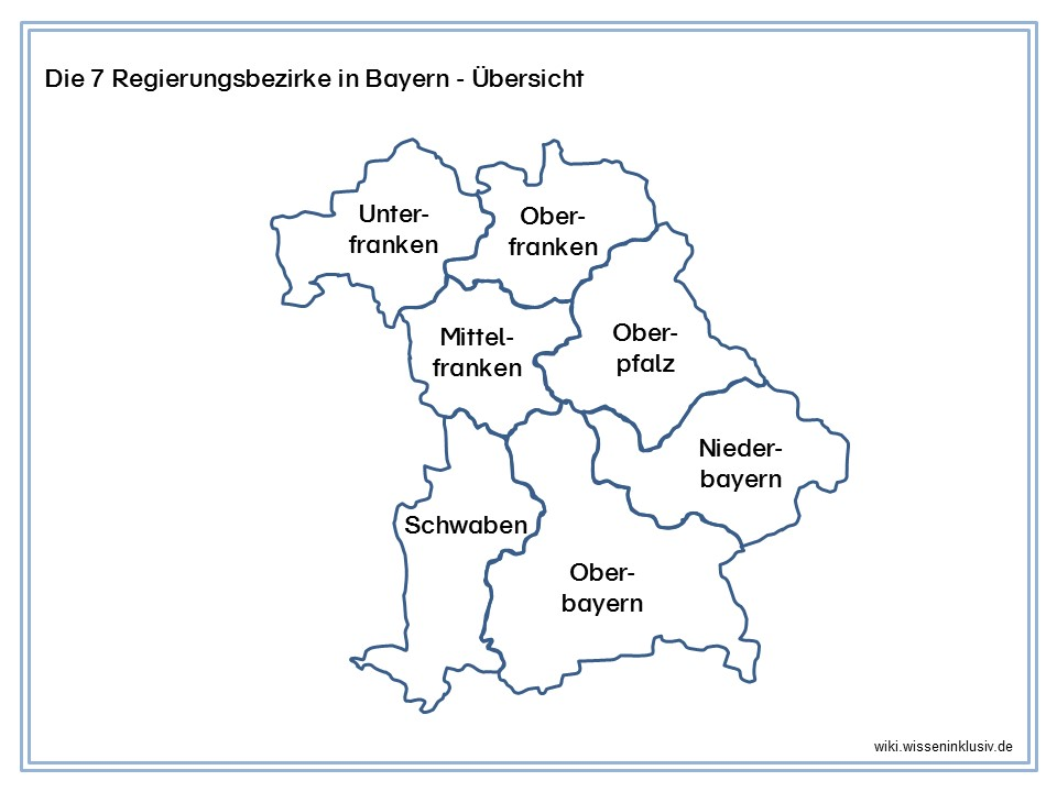 bayern regierungsbezirke karte Regierungsbezirke Bayern   Übersicht • Materialien Grundschule
