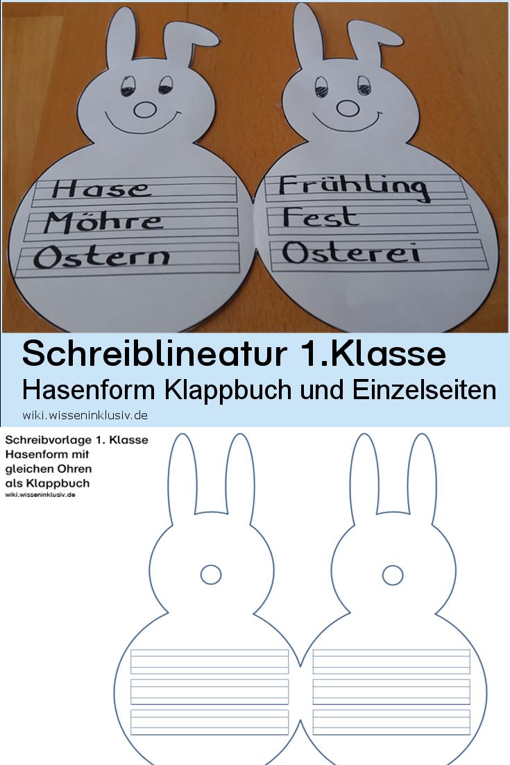 Schreibvorlage Hase 1. Klasse • Materialien Grundschule, wiki ...