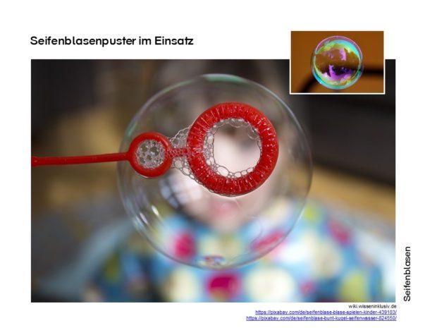Seifenblasen Experimente: Seifenblasen auch mal bunt
