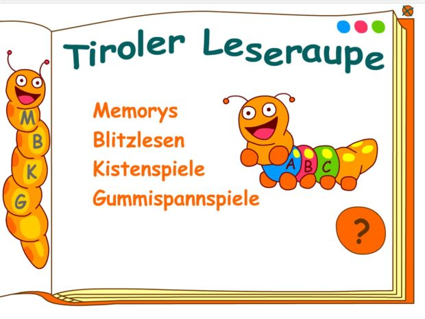 Tiroler Leseraupe – online Lesespiele