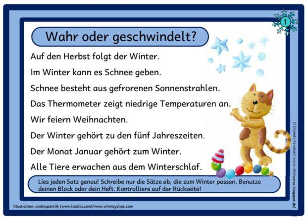 Winter Flunkerei Abschreibkarten Ideenreise