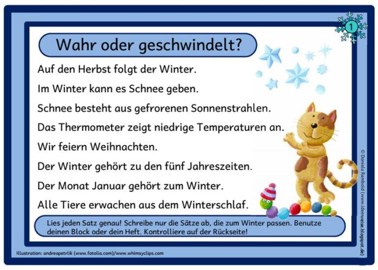 Winter-Flunkerei Abschreibkarten