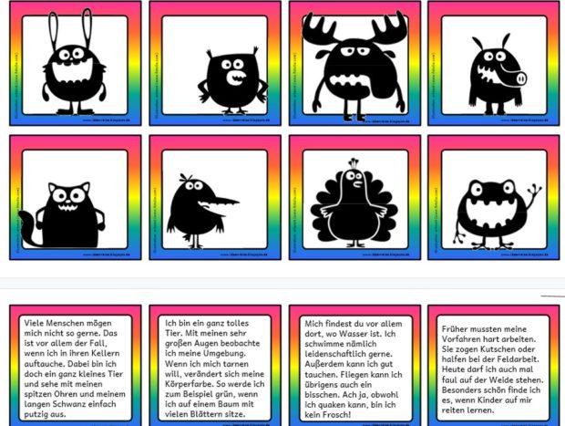 Witzige Tiere Lesezuordnung Ideenreise