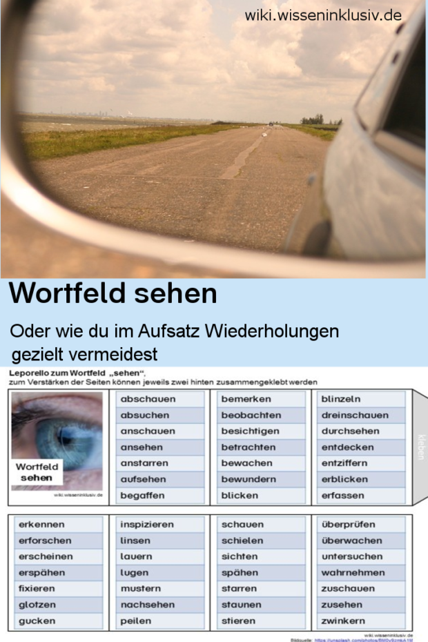 w246rter f252r quotsehenquot � materialien grundschule wiki