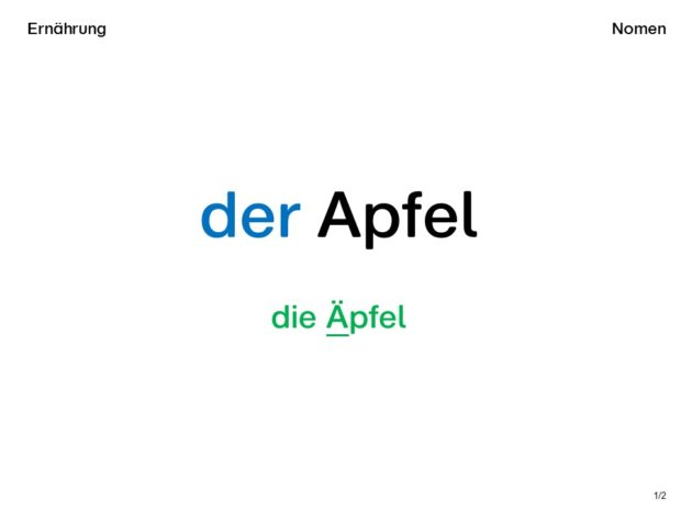 Wortkarte Apfel