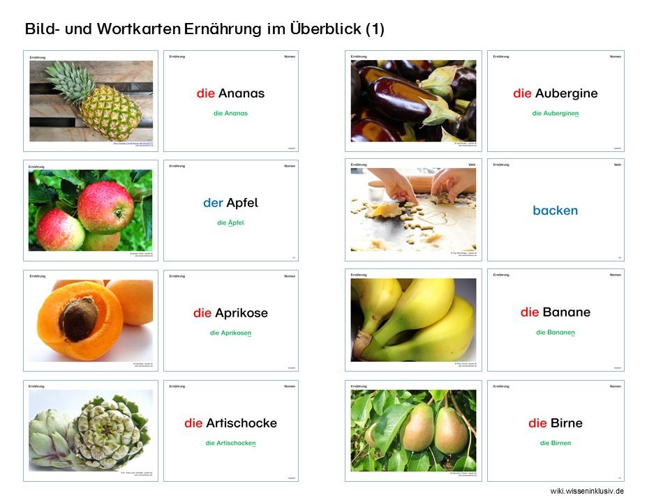Wort-Bild-Karten Lebensmittel – umfangreich und detailliert