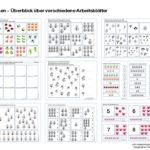 Zählen lernen - Basis und Arbeitsblätter