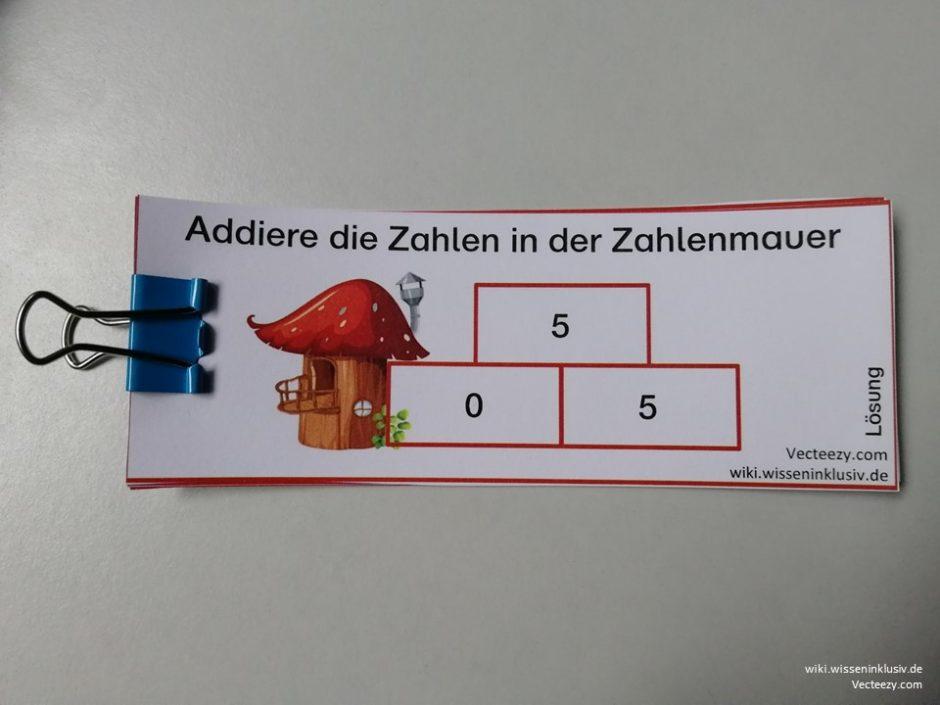 Zahlenmauern im ZR 10 Lösungsheft - Addition